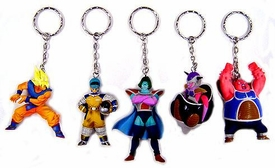 Dragon Ball Z BanPresto Set of 5 Frieza Saga Keychains [SS Goku, Frieza 1st Form, Bulma, Zarbon & Dodoria]