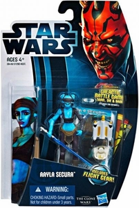 Star Wars 2012 Clone Wars Action Figure #14 Aayla Secura [Includes Fight Gear!]