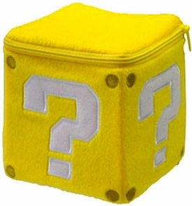 Super Mario Brothers 5 Inch Plush Pillow Coin Box