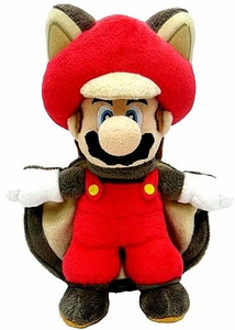 Super Mario 9 Inch Plush Flying Squirrel Blue Mario