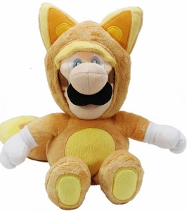 Super Mario 9 Inch Plush Kitsune Fox Luigi
