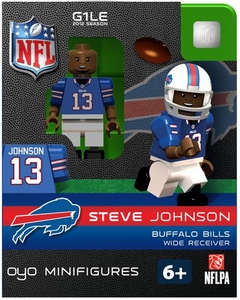OYO Football NFL Building Brick Minifigure Steve Johnson [Buffalo Bills]