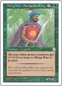 Magic the Gathering Portal Three Kingdoms Single Card Rare #142 Meng Huo, Barbarian King