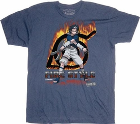 Naruto Youth T-Shirt Sasuke Fire Style