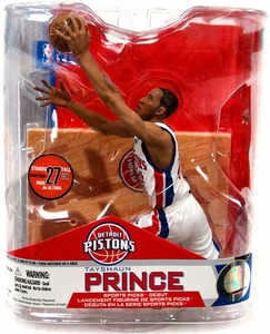 McFarlane Toys NBA Sports Picks Series 14 Action Figure Tayshaun Prince (Detroit Pistons) White Jersey Variant