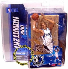 McFarlane Toys NBA Sports Picks Series 9 Action Figure Dirk Nowitzki (Dallas Mavericks) White Jersey BLOWOUT SALE!