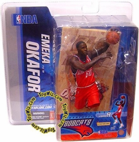 McFarlane Toys NBA Sports Picks Series 9 Action Figure Emeka Okafor (Charlotte Bobcats) Orange Jersey BLOWOUT SALE!