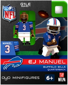OYO Football NFL Building Brick Minifigure EJ Emanuel [Buffalo Bills]
