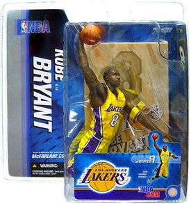 McFarlane Toys NBA Sports Picks Series 9 Action Figure Kobe Bryant (Los Angeles Lakers) Yellow Jersey