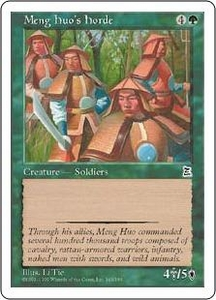 Magic the Gathering Portal Three Kingdoms Single Card Common #143 Meng Huo's Horde