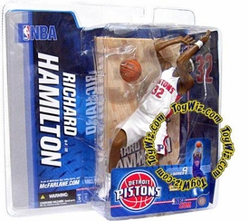 McFarlane Toys NBA Sports Picks Series 9 Action Figure Richard Hamilton (Detroit Pistons)White Jersey Variant