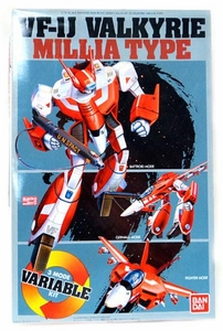 Robotech Macross Bandai 1/72 Scale Transforming Model Kit VF-1J Valkyrie [Milia Fallina]