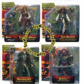 NECA Pirates of the Caribbean Dead Man's Chest Series 2 Set of 4 Action Figures