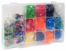 Rainbow Loom Mini Collection Storage Kit Includes Over 4000 Bands And 100 C Clips