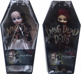 Mezco Toyz Living Dead Dolls Set of 2 Scary Tales Figures [Snow White & Evil Queen]
