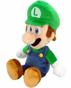 New Super Mario Bros. Wii 9 Inch Plush Luigi [Sitting]