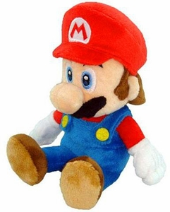 New Super Mario Bros. Wii 8 Inch Plush Mario [Sitting]
