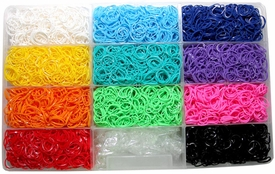 Rainbow Loom Twitz Bands Refill Bundle Kit & C-Clips Collection with 6600 Bandz +275 C-clips 11 Beautiful Colors and Great Storage Case.
