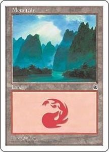 Magic the Gathering Portal Three Kingdoms Single Card Land #175 Mountain [Random Artwork]