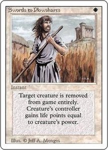 Magic the Gathering Revised Edition Single Card Uncommon Swords to Plowshares