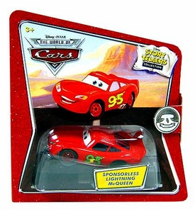 Disney / Pixar CARS Movie 1:55 Die Cast Story Tellers Collection Sponsorless Lightning McQueen