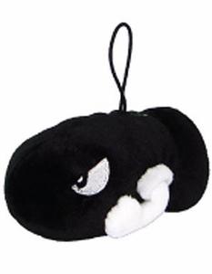 Super Mario Brothers 3 Inch Plush Bullet Bill
