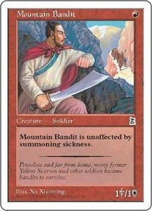 Magic the Gathering Portal Three Kingdoms Single Card Common #117 Mountain Bandit