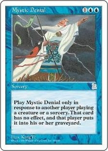 Magic the Gathering Portal Three Kingdoms Single Card Uncommon #49 Mystic Denial