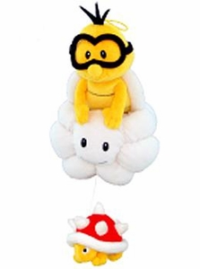 New Super Mario Bros. San-Ei 8 Inch Plush Lakitu & Spiny