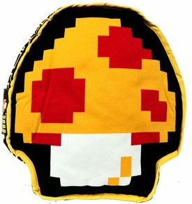 Super Mario Brothers BanPresto 2-Sided Pillow Plush 1-Up Mushroom / Super Mushroom
