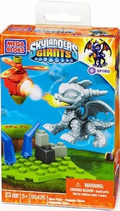 Skylanders Giants Mega Bloks Set #95426 Silver Metallic Spyro BLOWOUT SALE!