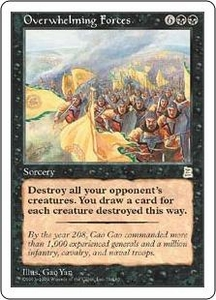 Magic the Gathering Portal Three Kingdoms Single Card Rare #79 Overwhelming Forces