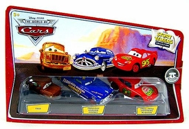 Disney / Pixar CARS Movie 1:55 Die Cast Story Tellers Collection 3-Pack Fred, Fabulous Hudson Hornet & Smell Swell Lightning McQueen