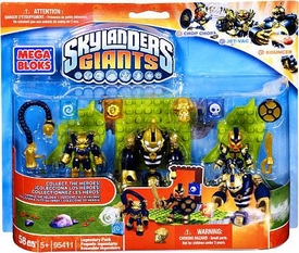 Skylanders Giants Mega Bloks Set #95411 Legendary Pack [Chop Chop, Jet-Vac & Bouncer]