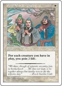 Magic the Gathering Portal Three Kingdoms Single Card Uncommon #15 Peach Garden Oath