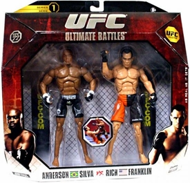 UFC Jakks Pacific Series 1 Deluxe Action Figure 2-Pack Anderson Silva vs. Rich Franklin  [UFC 77]