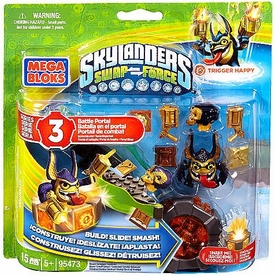 Skylanders SWAP FORCE Mega Bloks Set #95473 Legendary Trigger Happy Battle Portal BLOWOUT SALE!