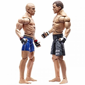 UFC Jakks Pacific Series 2 Deluxe Action Figure 2-Pack Matt Hughes vs. Georges St. Pierre