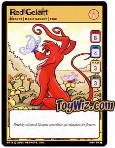Neopets Hannah and Ice Caves Common Single Card # 103 Red Gelert