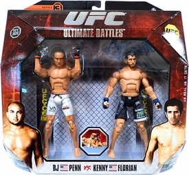 UFC Jakks Pacific Series 3 Deluxe Action Figure 2-Pack BJ Penn vs. Kenny Florian