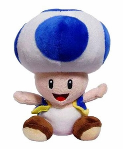 New Super Mario Bros. Wii 6 Inch Plush Blue Toad