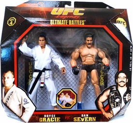 UFC Jakks Pacific Series 3 Deluxe Action Figure 2-Pack Royce Gracie vs. Dan Severn