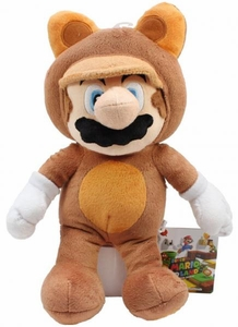 Super Mario 11 Inch Plush Mario in Tanuki Suit