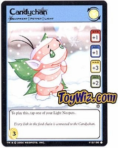 Neopets Hannah and Ice Caves Common Single Card # 112 Candychan