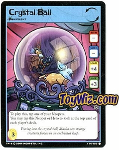 Neopets Hannah and Ice Caves Common Single Card # 114 Crystal Ball
