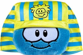 Disney Club Penguin 4 Inch Series 10 Plush Puffle Blue with Pharaoh Headress Hat [Includes Coin with Code!]