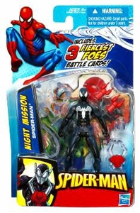 Spider-Man 3.75 Inch Action Figure Night Mission Black Spider-Man