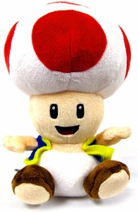 Super Mario Brothers San-Ei 6 Inch Plush Toad [Open Mouth]