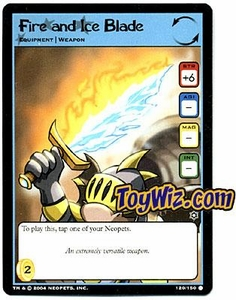 Neopets Hannah and Ice Caves Common Single Card # 120 Fire and Ice Blade
