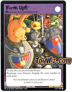 Neopets Hannah and Ice Caves Common Single Card # 121 Form Up!
